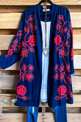 AHB EXCLUSIVE: Finding My Balance Kimono - Royal Blue