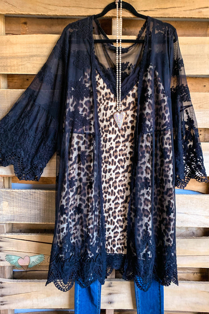 AHB EXCLUSIVE: From a Dream Lace Long Duster Crochet - Black