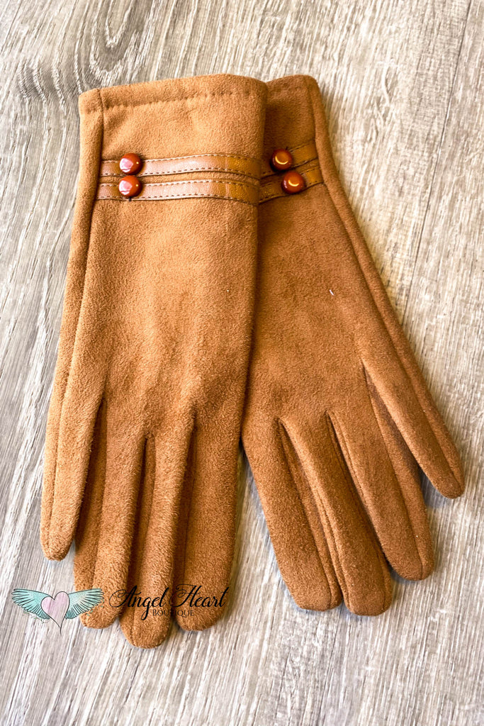 Winter Touch Screen Gloves  - Camel