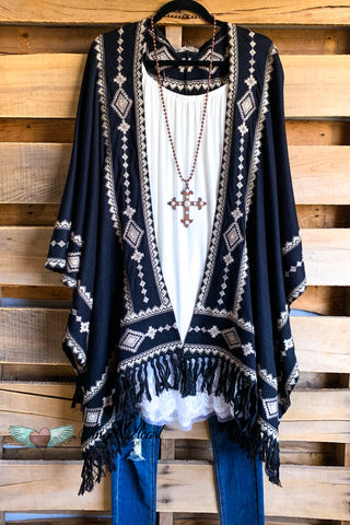 Snow Problem Poncho - Rust/Charcoal
