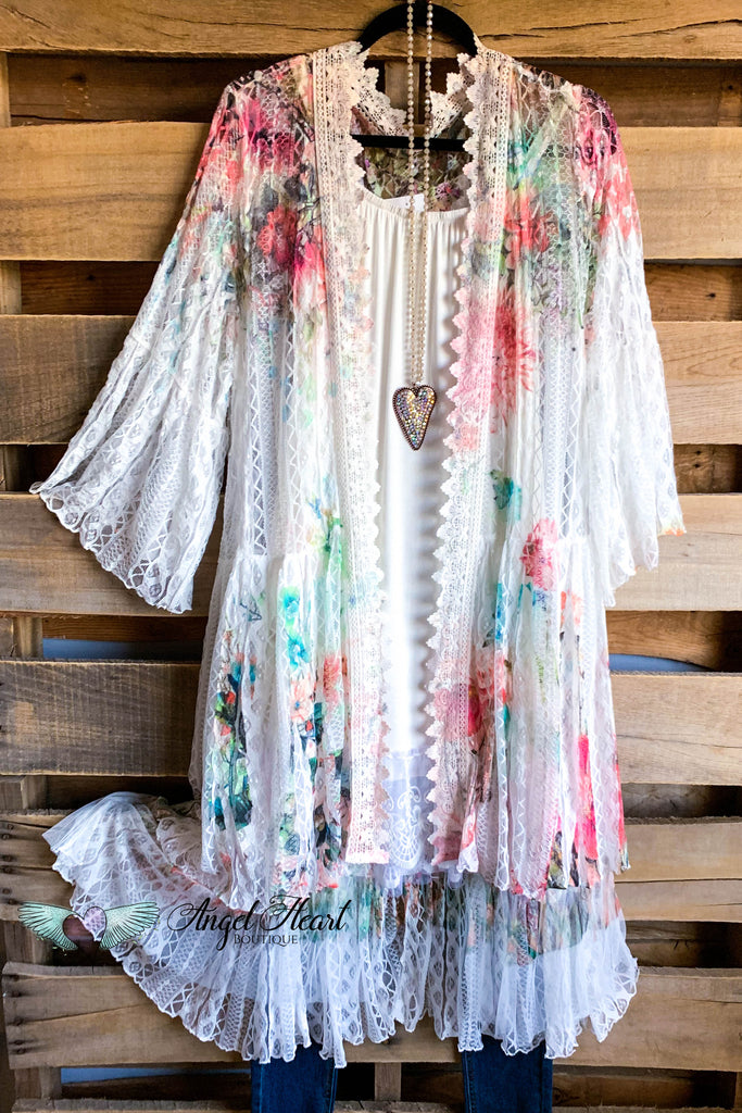 AHB EXCLUSIVE: Breezy Nights Duster Kimono - Rose