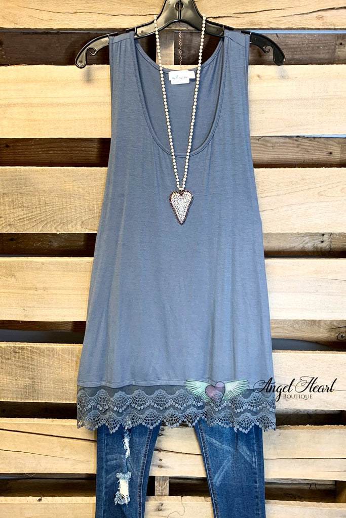 Extender: Slip on Tank/Tunic - Dark Silver