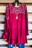 Winter Festivities Dress - Burgundy