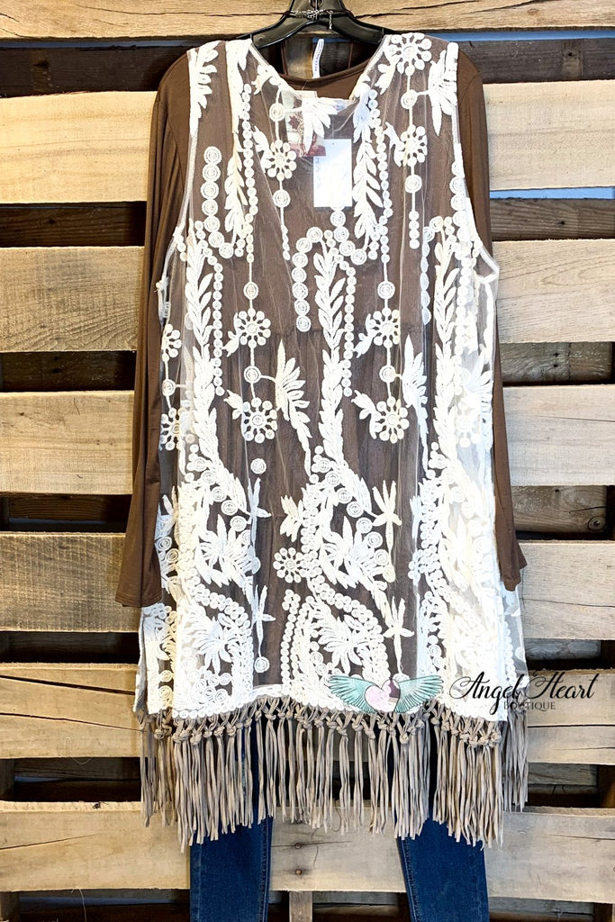 AHB EXCLUSIVE - Wild At Heart Vest - Natural [product type] - Angel Heart Boutique