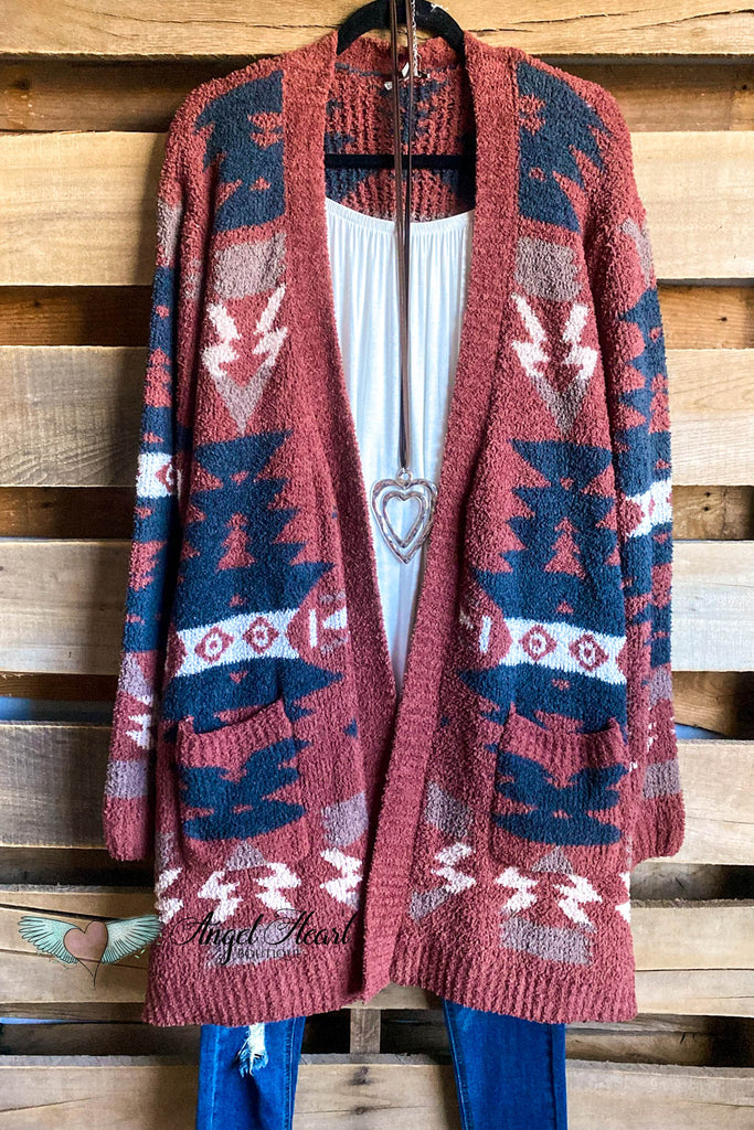 Cute & Comfy Cardigan - Brick