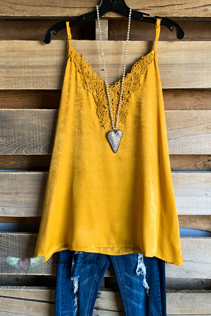 Lovely Soul Cami Top - Mustard