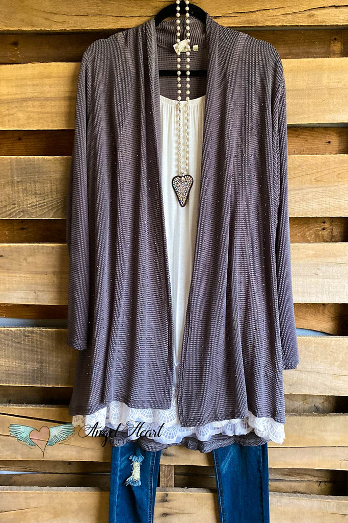 All About That Shine Cardigan - Grey