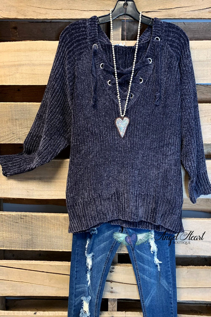 Forever Favorite Sweater - Charcoal [product type] - Angel Heart Boutique
