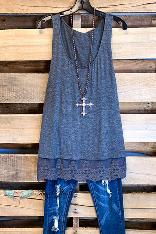 Extender: Slip on Tank/Tunic - Ruby Red