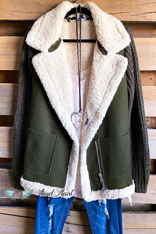Hold Me Tight Sweater Cardigan - Macha/Rust