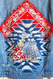 Stitched With Love Jean Jacket - Denim