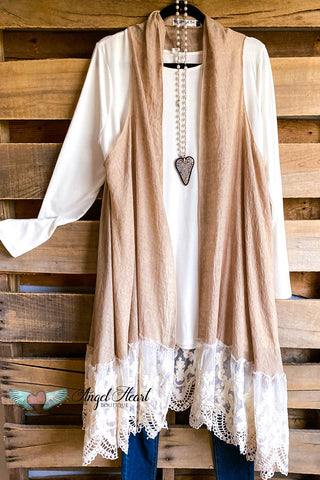 Frill Seeker Fleece Tunic - Taupe Mix