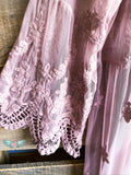 AHB EXCLUSIVE: From a Dream Lace Long Duster Crochet - Mocha/Mauve