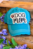 Dog Mom Hat - Turquoise
