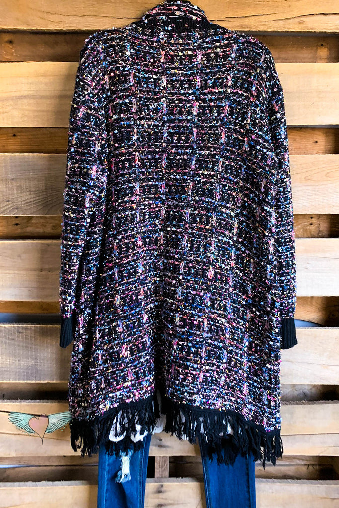 AHB EXCLUSIVE: Shut Down The Party Cardigan - Black