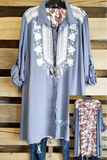 Here When You Need Me Dress - Denim Blue [product type] - Angel Heart Boutique