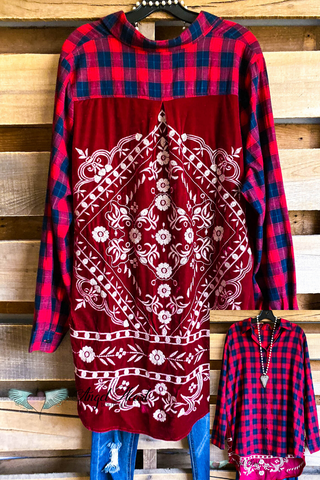 Plaid Frayed Vest - Tan
