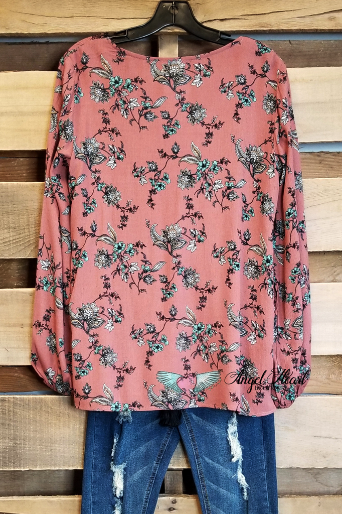Hidden in Plain Sight Top -TerraCotta