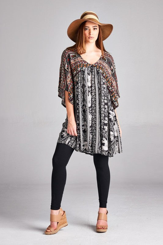 Good To See You Tunic - Black - Velzera - Tunic - Angel Heart Boutique  - 2