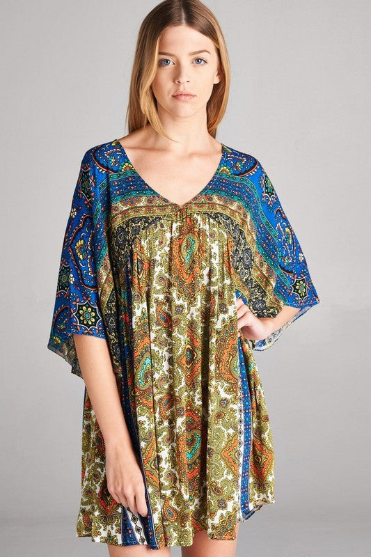 Leave You Breathless Tunic - Blue Mix - Velzera - Dress - Angel Heart Boutique  - 3