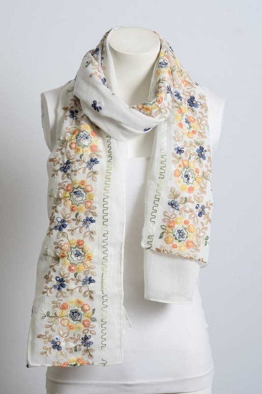 Secret Garden Scarf - Off White - Angel Heart Boutique - Scarf - Angel Heart Boutique  - 2