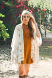 She's Got A Way Kimono -Cream - Angel Heart Boutique - Cardigan - Angel Heart Boutique  - 2