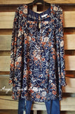 Edge of Forever Dress - Navy - Umgee - Dresses - Angel Heart Boutique  - 2