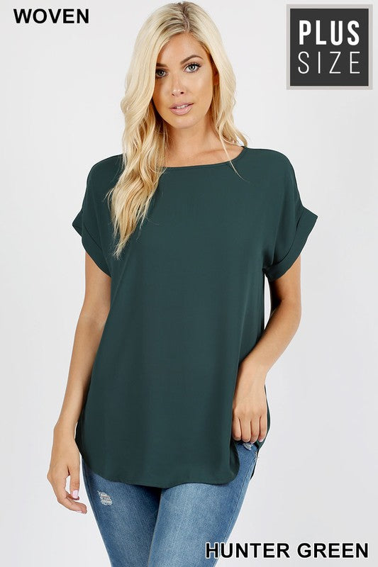 Classic Cut Top - Hunter Green - DOORBUSTER [product type] - Angel Heart Boutique