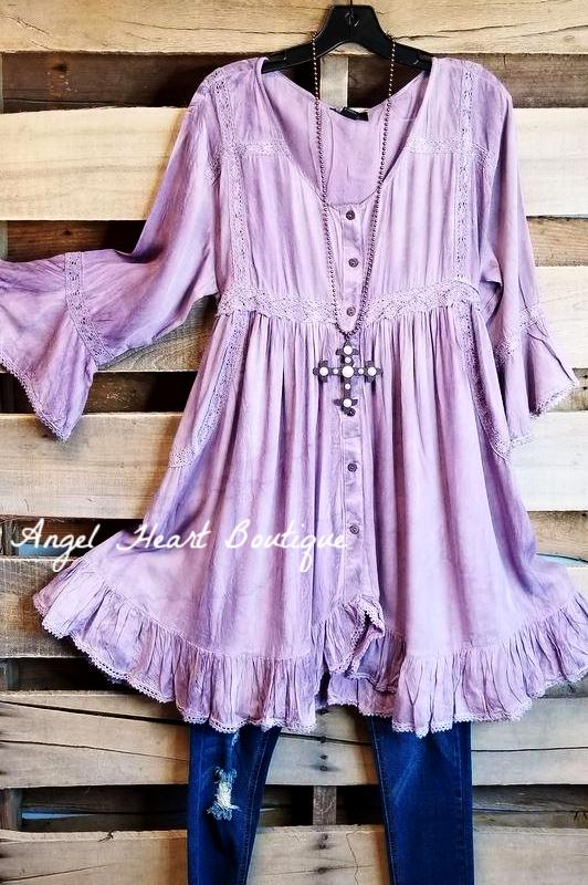 Feeling Inspired Top - Purple [product type] - Angel Heart Boutique