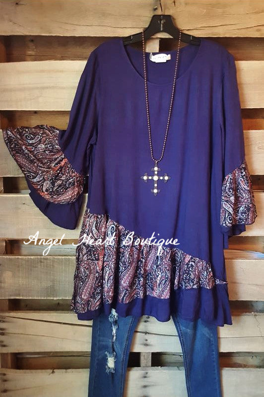 Not Going Out Like That Tunic - Blue - Sassybling - Tunic - Angel Heart Boutique  - 2