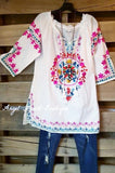 Beach Vibes Tunic - White [product type] - Angel Heart Boutique