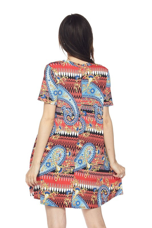 Wishful Moment Tunic - Red [product type] - Angel Heart Boutique