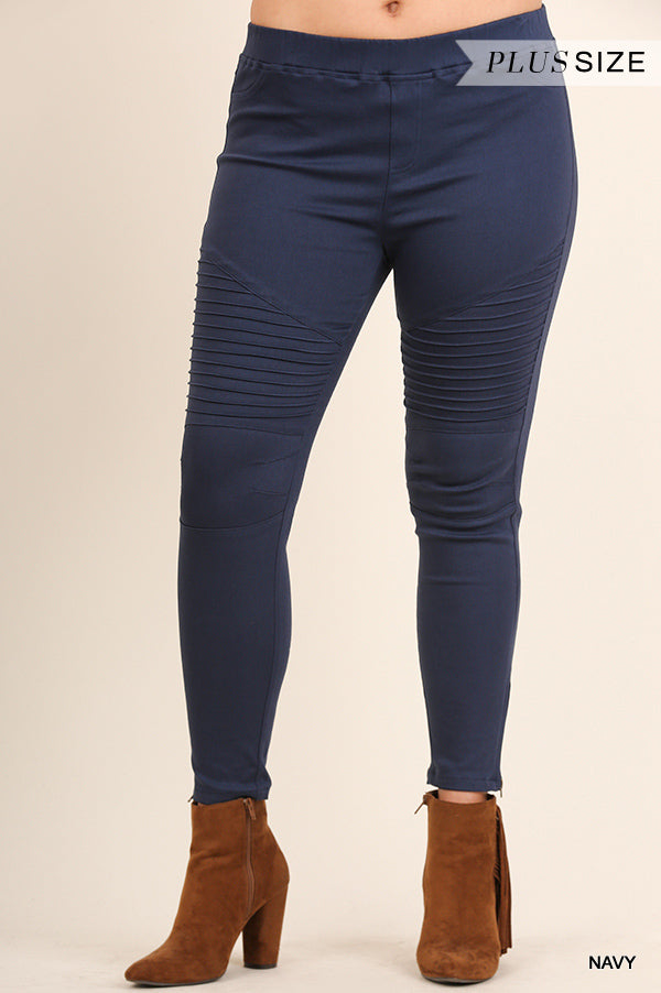 The Best Jeggings Elastic Waist - Navy - SALE