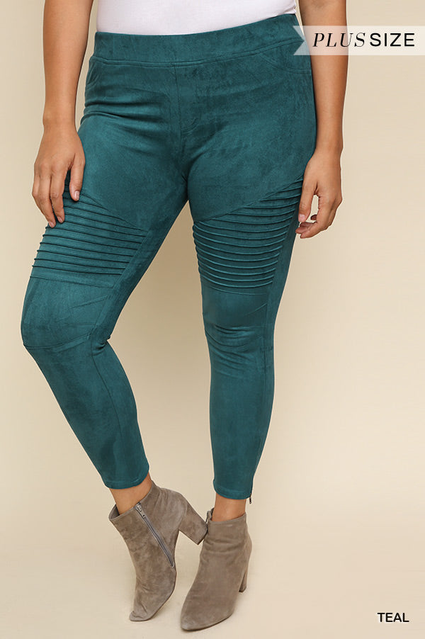 The Most Comfy Jeggings Ever - Suede Teal - SA;E
