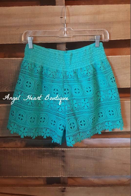 Born To Fly Shorts - Turquoise - Angel Heart Boutique - Shorts - Angel Heart Boutique  - 2