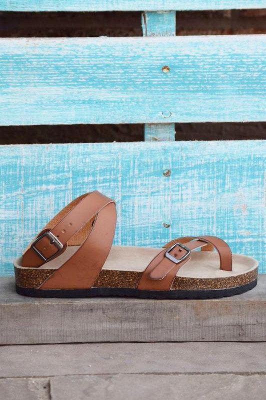 Dream Of The Day Sandals - Brown [product type] - Angel Heart Boutique