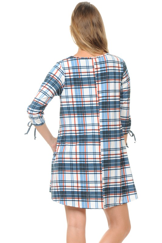 Pull It Together Tunic - Blue [product type] - Angel Heart Boutique