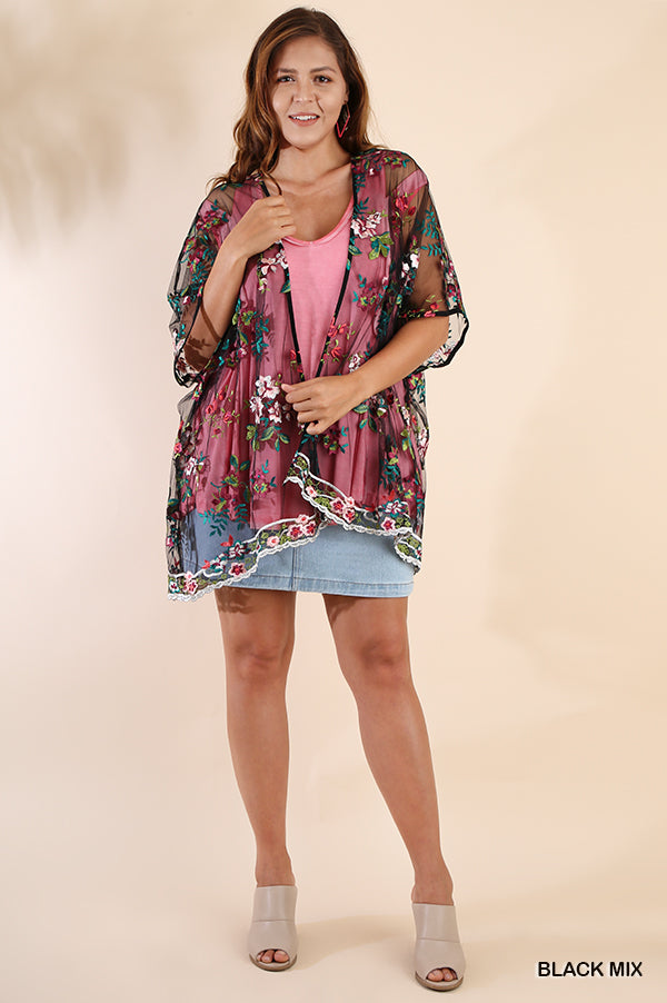 Sweet Summertime Cardigan - Black [product type] - Angel Heart Boutique