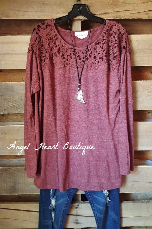 Casual & Elegant Sweater - Wine - Umgee - Sweater - Angel Heart Boutique