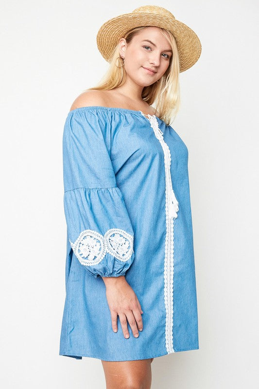 Sail The World Dress - Denim - SALE [product type] - Angel Heart Boutique