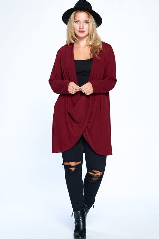 Giving Purpose Pullover - Burgundy