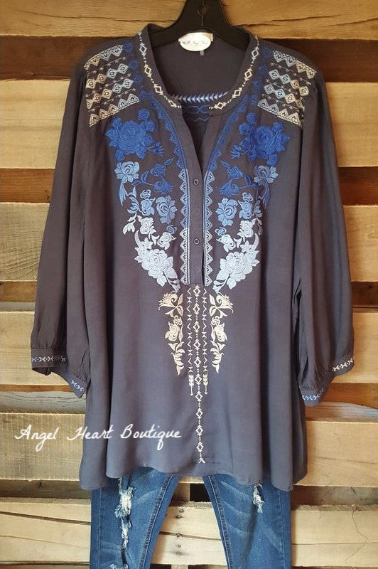 Like A Dream Tunic - Dark Gray - Andree By Unit - Tunic - Angel Heart Boutique  - 1