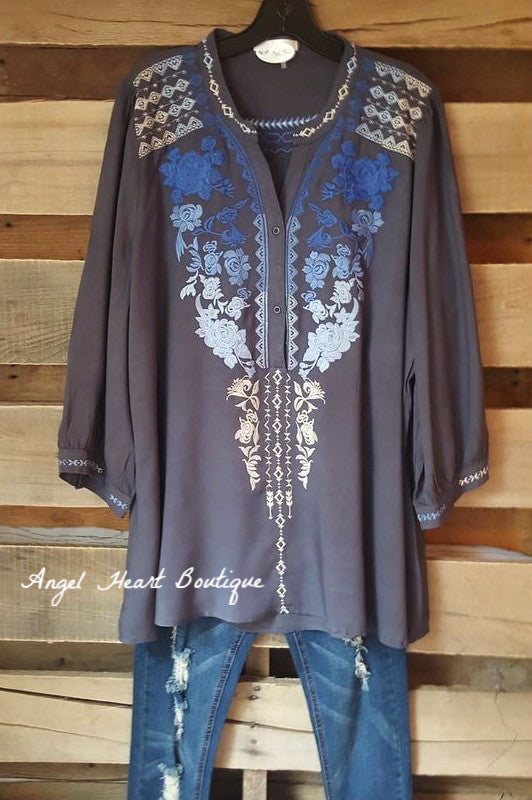 Like A Dream Tunic - Dark Gray - Andree By Unit - Tunic - Angel Heart Boutique  - 2