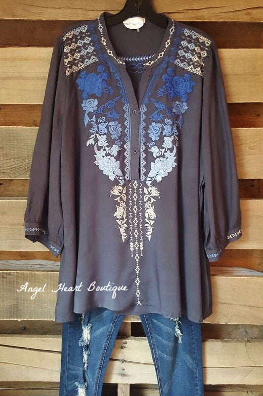 Like A Dream Tunic - Dark Gray - Andree By Unit - Tunic - Angel Heart Boutique  - 3