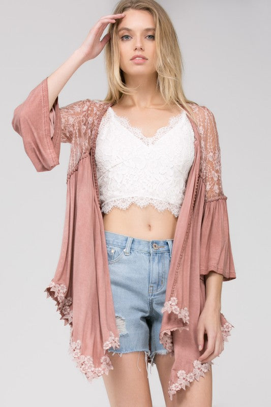 Can't Let You Go Cardigan- Canyon Sand [product type] - Angel Heart Boutique