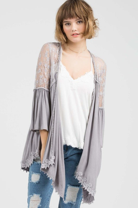 Can't Let You Go Cardigan- Taupe Grey [product type] - Angel Heart Boutique