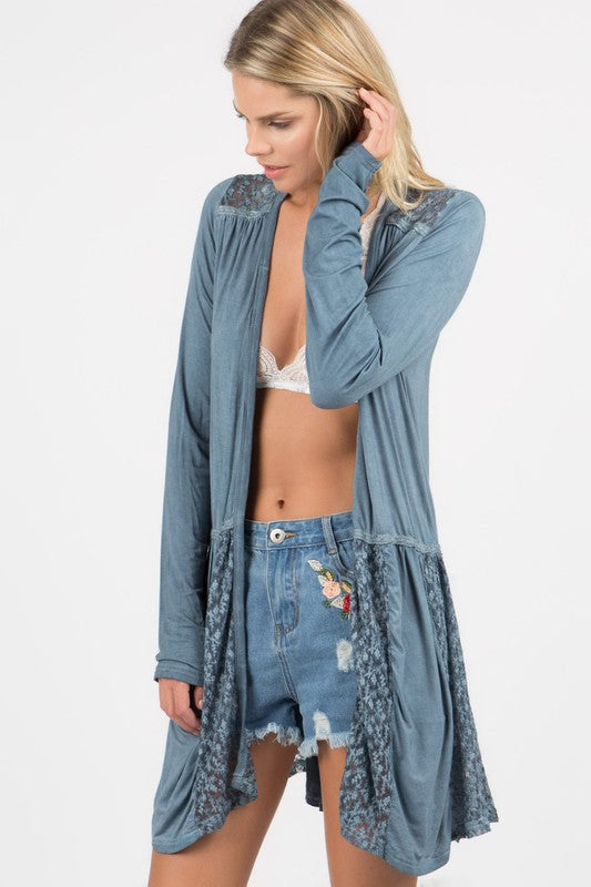 Have Your Moment Cardigan- Midnight Blue [product type] - Angel Heart Boutique