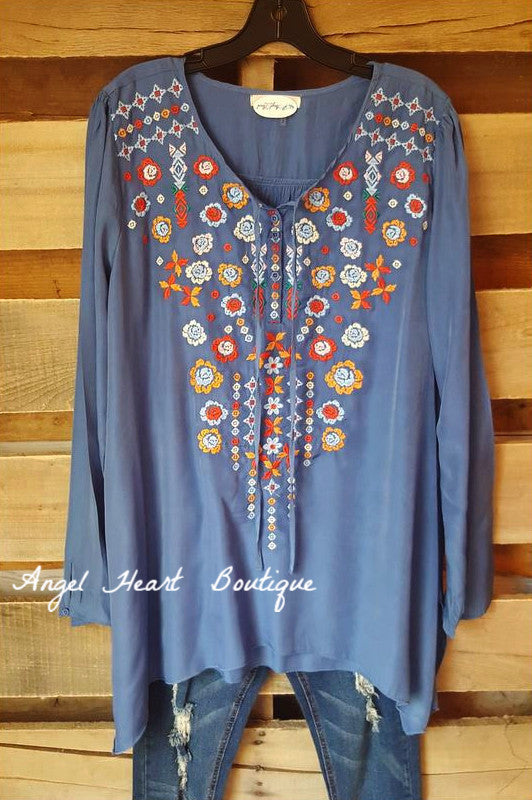 Le Moment Tunic - Blue - Andree By Unit - Tunic - Angel Heart Boutique  - 1