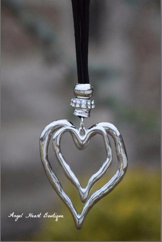 Cross To My Heart Necklace - Pearl