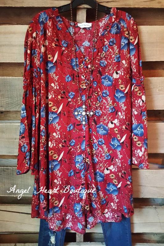Take A Print Dress - Red - Umgee - Dress - Angel Heart Boutique  - 2
